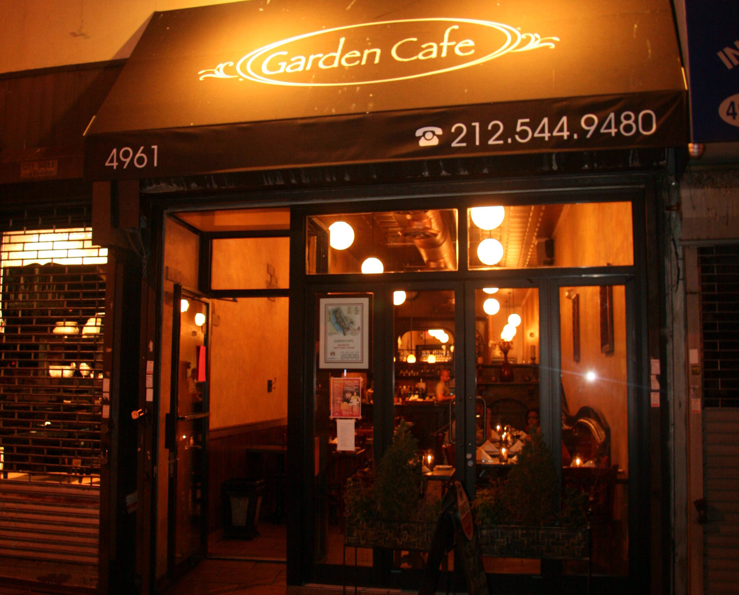 Garden Cafe – 4961 Broadway, NYC Phone: (212) 544-9480